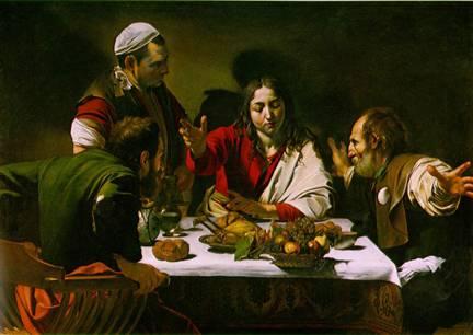 Michelangelo da Caravaggio - Cină în Emaus